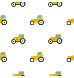 yellow tractor pattern flat vector image