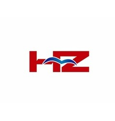 Z and H logo vector image