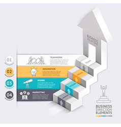 3d Business arrows staircase diagram template vector image vector image