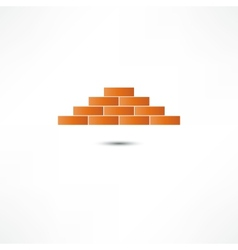Brickwork Icon vector image vector image