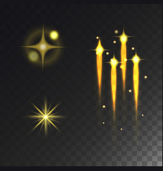 glowing lights effect stars effect glow vector image