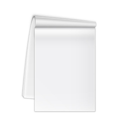 Isolated Open Notebook On White vector image vector image