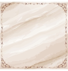 Marble background with ornate frame border vector image