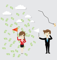Business woman success vector image