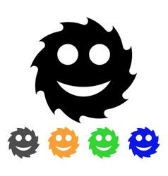 Circular blade happy smiley icon vector