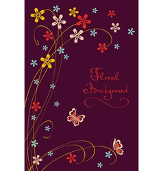 Cute Floral Background Modern Card vector image vector image