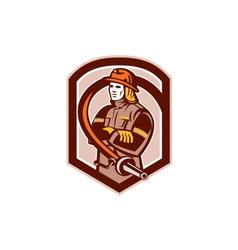 Fireman Firefighter Folding Arms Circle Retro vector image vector image
