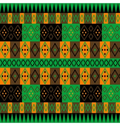 Green and brown ethnic carpet vector image