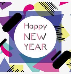 Happy new year figures backgrund design vector