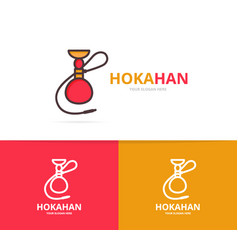 hookah logo unique shisha and turkish vector image