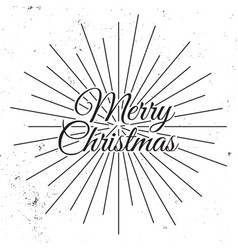 merry christmas 2018 holiday vector image