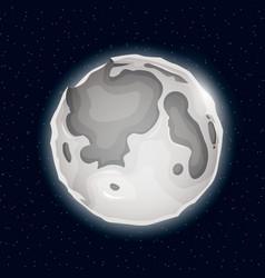 realistic beautiful night moon globe vector image