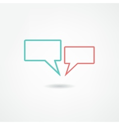 think bubble icon vector image vector image