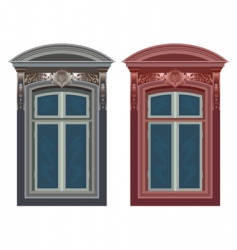 windows in frames vector image vector image