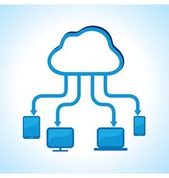 Cloud computing concept stock vector image