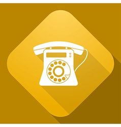 icon of Phone with a long shadow vector image vector image