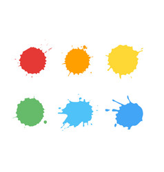 ink splatter set vector image