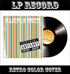 LP vinyl record vector image vector image