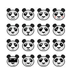 panda emoticon vector image