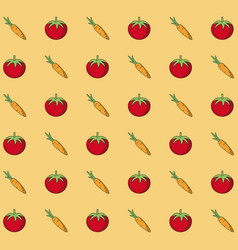 colorful background with pattern of tomatoes and vector image vector image