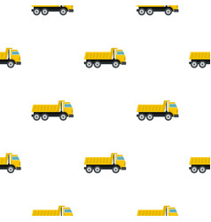 dumper truck pattern flat vector image vector image