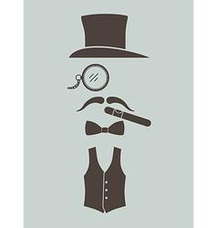 Gentlemens vintage stuff vector