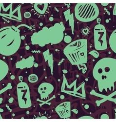 Graffiti Seamless Pattern Color vector image
