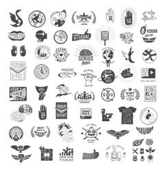 set of vintage logos vector image