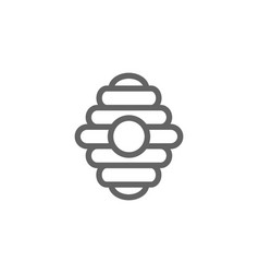 simple bee hive line icon symbol and sign vector image vector image