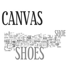 what you should know about canvas shoes text word vector image vector image