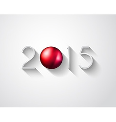 2015 New year original modern background template vector image