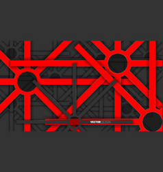 abstract background red geometric shapes overlap vector image