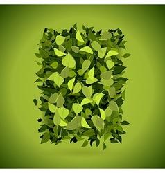 Abstract bright green leaves background vector image