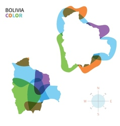 Abstract color map of Bolivia vector image