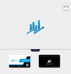 accounting finance concept logo template free vector image
