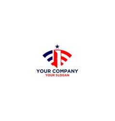 american door logo design vector image