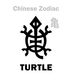 Astrology turtle tortoise sign chinese vector