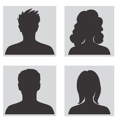 avatar set people profile silhouettes vector image