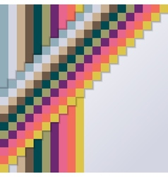 Background with Squares and Stripes vector image