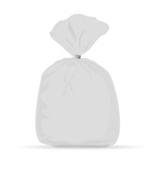 bag packing white layout vector image