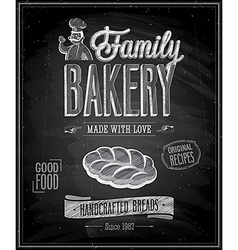 bakery chalk vector image