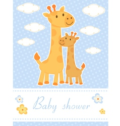 Bashower card with giraffes vector