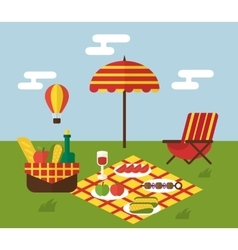 BBQ party Barbecue and grill cooking Flat design vector image