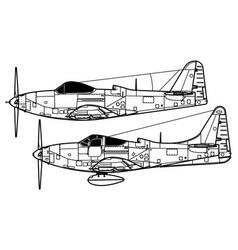 bell p-63d-e kingcobra vector image