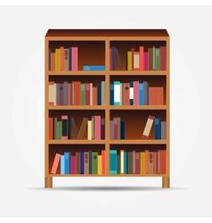 Bookcase icon vector