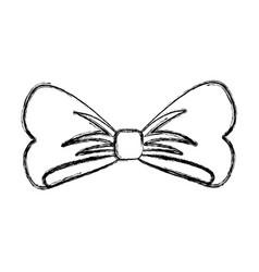 Bow ribbon isolated icon vector
