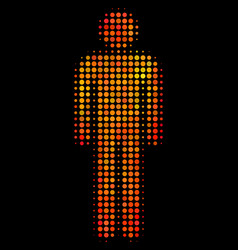 bright dotted man user icon vector image