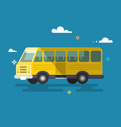 bus flat design vector image