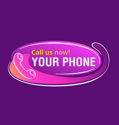 Call us now banner - headset and copy space vector