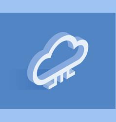 cloud isometric icon vector image
